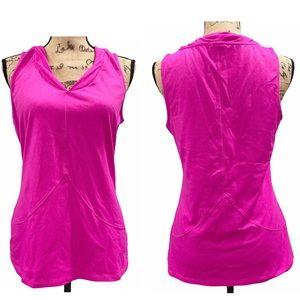 Athleta Large Pink V Neck Tank Top